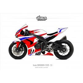 Kit déco Honda CBR1000RR-R 2020 2.6 Blanc Rouge Bleu