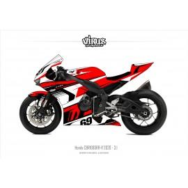Kit déco Honda CBR1000RR-R 2020 3.1 Rouge Blanc Noir