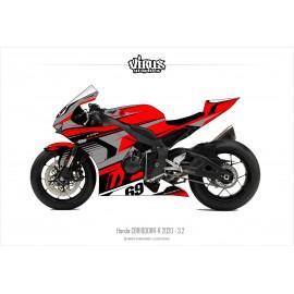 Kit déco Honda CBR1000RR-R 2020 3.2 Rouge Gris Noir