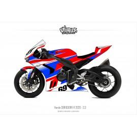 Kit déco Honda CBR1000RR-R 2020 3.3 Rouge Bleu Blanc